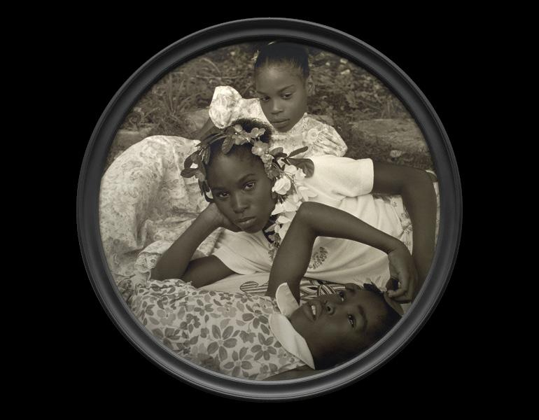 May Flowers, from May Days Long Forgotten, 2002. Carrie Mae Weems (American, born 1953). Digital chromogenic print; diam. 33 1/2 in. The J. Paul Getty Museum, Los Angeles 2005.51. © Carrie Mae Weems.