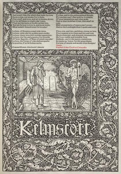The Kelmscott Chaucer (1896), the most ambitious of the Press' works, is considered one of the finest volumes in the entire history of the book arts.