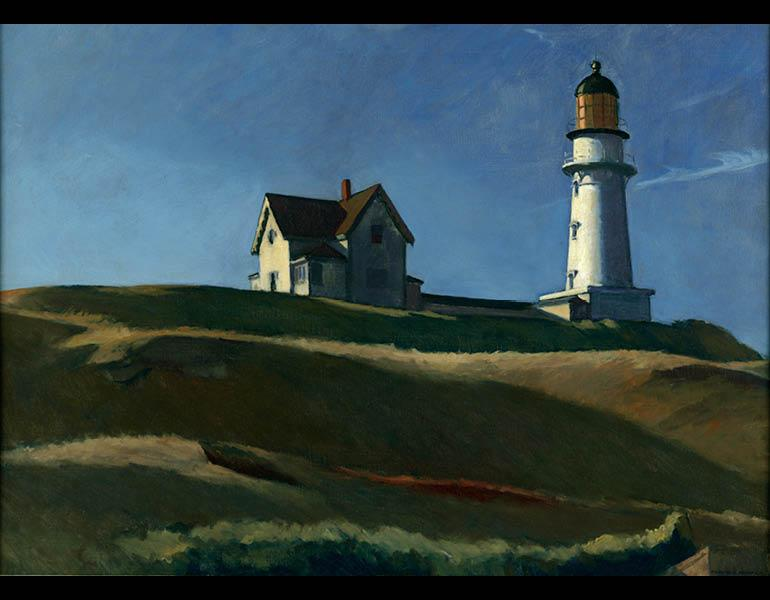 Edward Hopper (American, 1882–1967). Lighthouse Hill, 1927. Oil on canvas, 29 1/16 x 40 1/4 in. (73.8 x 102.2 cm). Dallas Museum of Art, Gift of Mr. and Mrs. Maurice Purnell, 1958.9. © Heirs of Josephine N. Hopper, licensed by the Whitney Museum of American Art