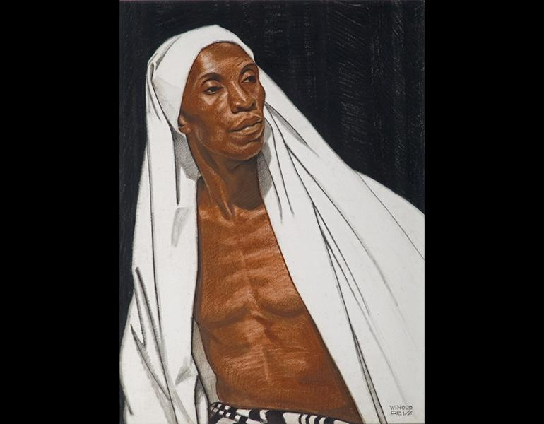 Winold Reiss (American, 1886–1953). Black Prophet, 1925. Pastel on Whatman board, 30 x 22 in. (76.2 x 55.9 cm). Private collection. © The Reiss Trust