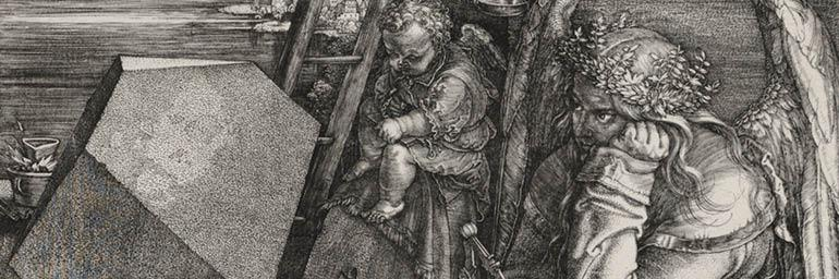 Melencolia I, 1514. Albrecht Dürer (German, 1471-1528). Engraving; 23.8 x 18.6 cm. Gift of Leonard C. Hanna Jr., in memory of Ralph King 1926.211