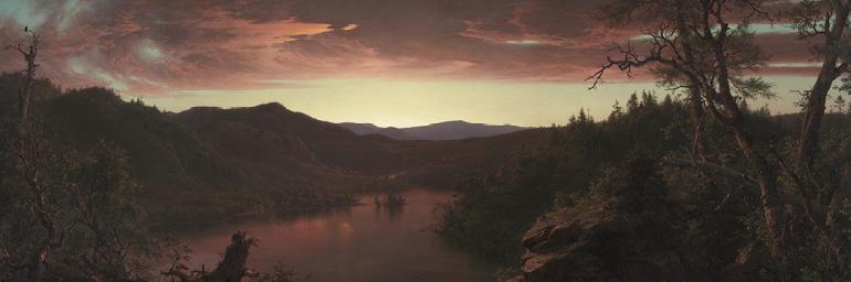 Twilight in the Wilderness (detail), 1860. Frederic Edwin Church. Oil on canvas; 40 x 64 in. Mr. and Mrs Williams H Marlatt Fund 1965.233