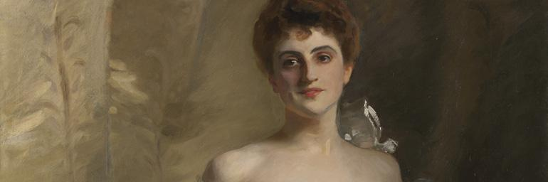 Portrait of Lisa Colt Curtis (detail), 1898. John Singer Sargent (American, 1856-1925). Oil on canvas; 219.3 x 104.8 cm. Leonard C. Hanna Jr. Fund 1998.168