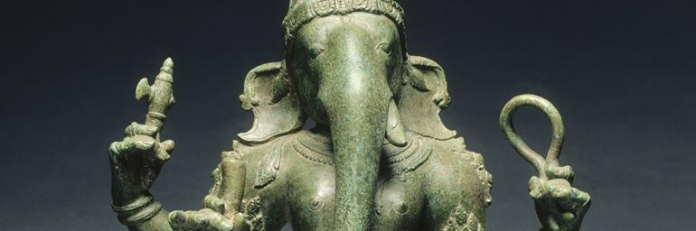 Ganesha, c. 1070. Bronze; 19-3/4 in. Katherine Holden Thayer 1970.62