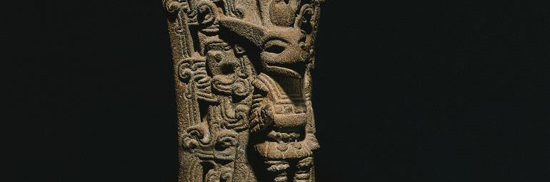 Ballgame Palma, c. 900-1100. Stone; 19-5/16 x 9-1/4 x 4-7/16 in. Purchase from the J.H. Wade Fund 1973.3