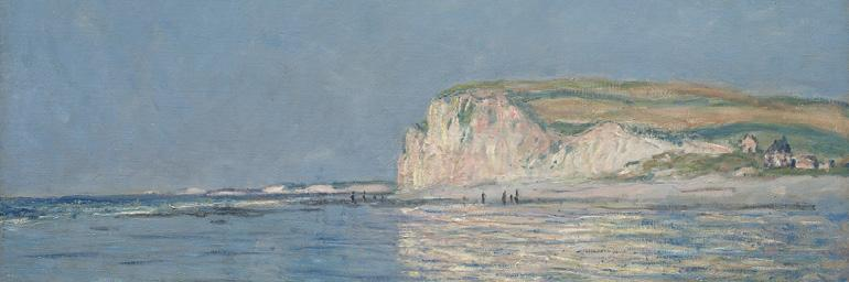 Low Tide at Pourville, 1882. Claude Monet. Oil on fabric; 23-9/16 x 32 in. Mrs. Henry White Cannon 1947.196