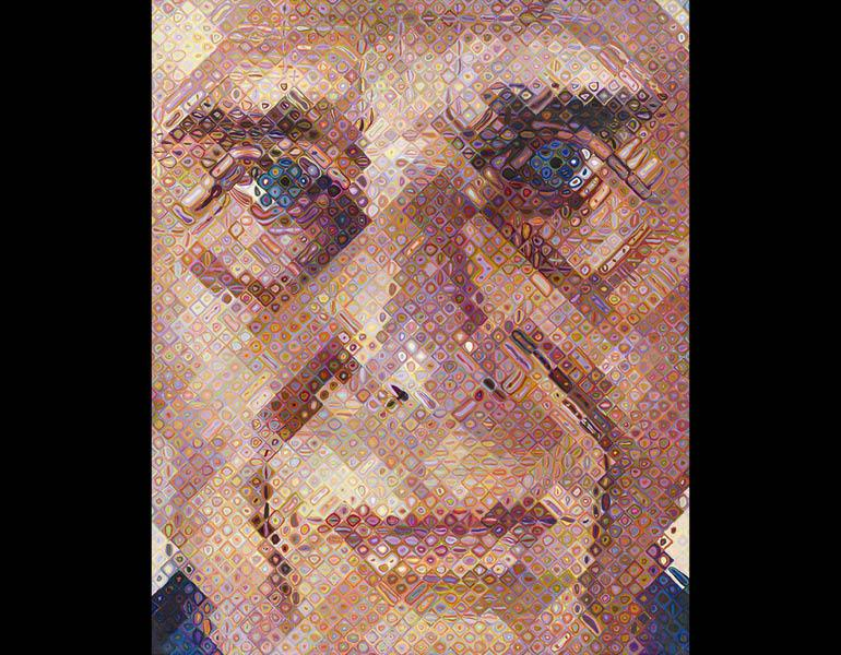 Paul III, 1996. Chuck Close. Oil on canvas; 102-3/16 x 84 x 2-15/16 in. Mr. and Mrs. Williams H. Marlatt Fund 1997.59 © Chuck Close, courtesy The Pace Gallery