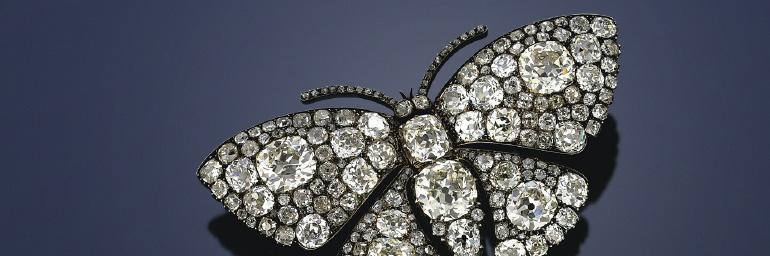 Butterfly Brooch (detail), c. 1895–1905. Unknown maker, France. Diamonds, silver, gold. Collection of Neil Lane, Photo: © Richard Rubins