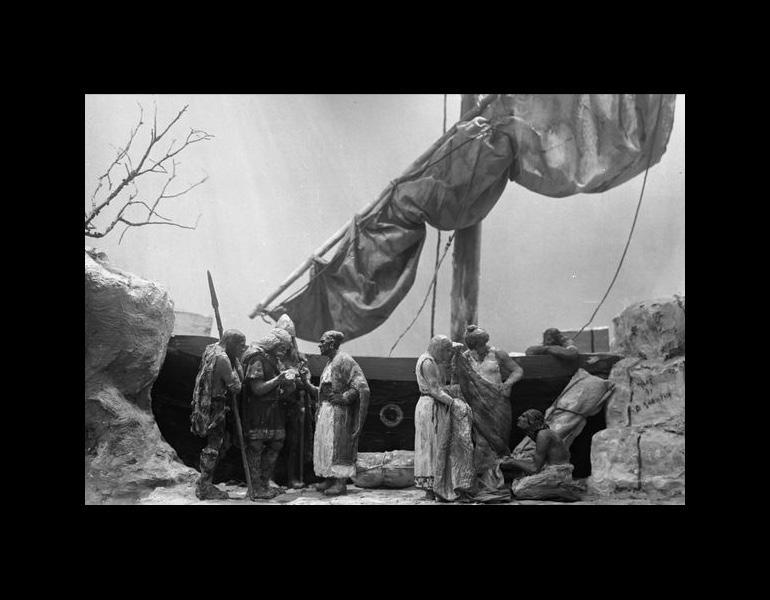 Model: Prehistoric Man: Trade, Children's Museum, 1921. IML 966570