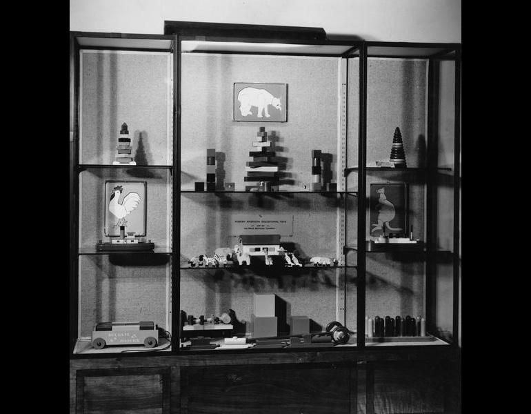 Christmas Exhibit of Educational Toys, lent by The Halle Bros., 1936.