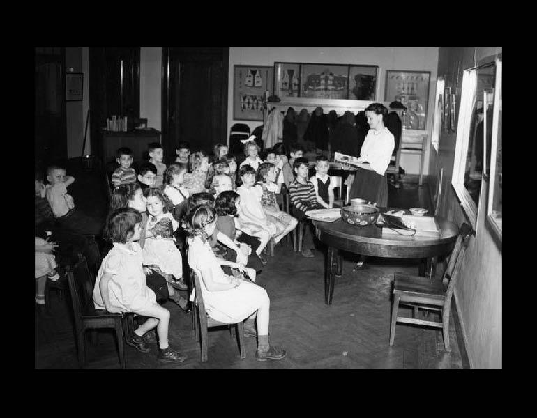Saturday class in Junior Museum (nee Children's Museum), 1948.