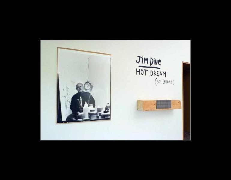 Installation / display featuring Dine, Jim. Hot Dream (52 Books). Göttingen: Steidl, 2008. (Photo: Amazon)
