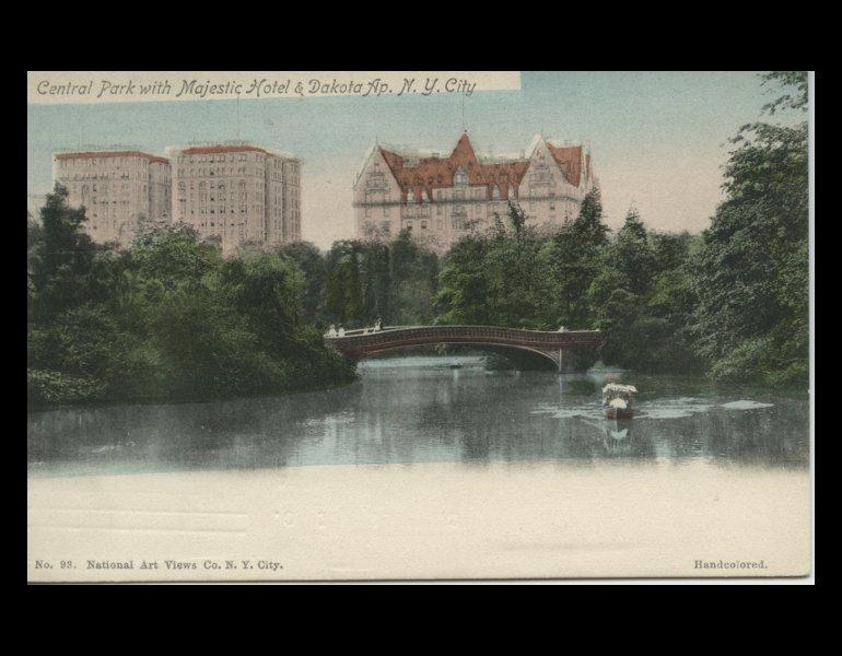 Central Park with Majestic Hotel & Dakota Ap., N.Y. City