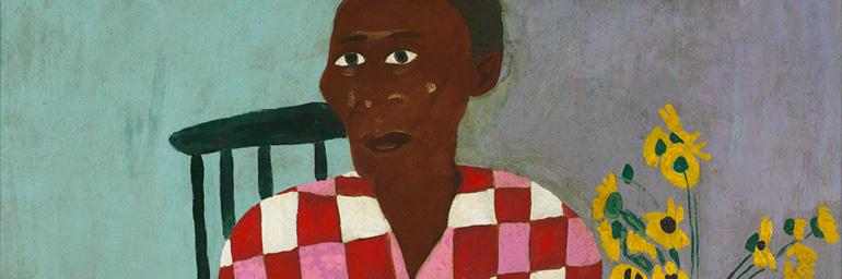 Aunt Alice (detail), 1944. William H. Johnson (American, 1901–1970). Oil on compressed cardboard; 85.7 x 72.4 cm. Courtesy Morgan State University