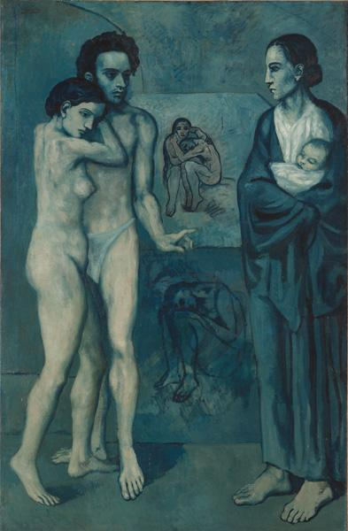 La Vie (Life), 1903. Pablo Picasso (1881–1973). Oil on canvas; 197 x 129 cm. The Cleveland Museum of Art, Gift of the Hanna Fund 1945.24 © 2012 Estate of Pablo Picasso / Artists Rights Society (ARS), New York