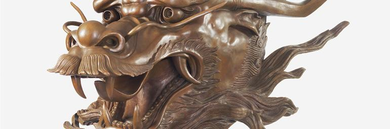 Circle of Animals/Zodiac Heads (detail), 2010. Ai Weiwei (Chinese, born 1957). Bronze. Private Collection, USA. Photo credit: Tim Nighswander