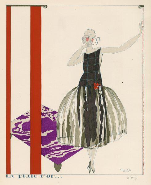 """Les Feuillets d' Art, Volume VI, le feuillets de la mode, """"La pluie d'or..."""" IML 985384"""