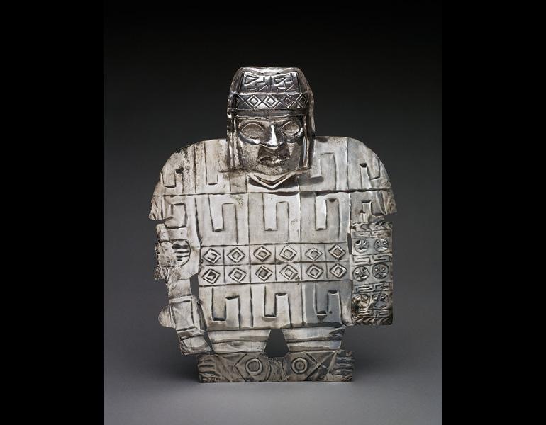 Warrior Plaque, 600–1000. Peru, Wari. Silver; 25.7 x 19.7 x 2.5 cm. Museum of Fine Arts, Houston, Gift of Alfred C. Glassell Jr. 2001.1174