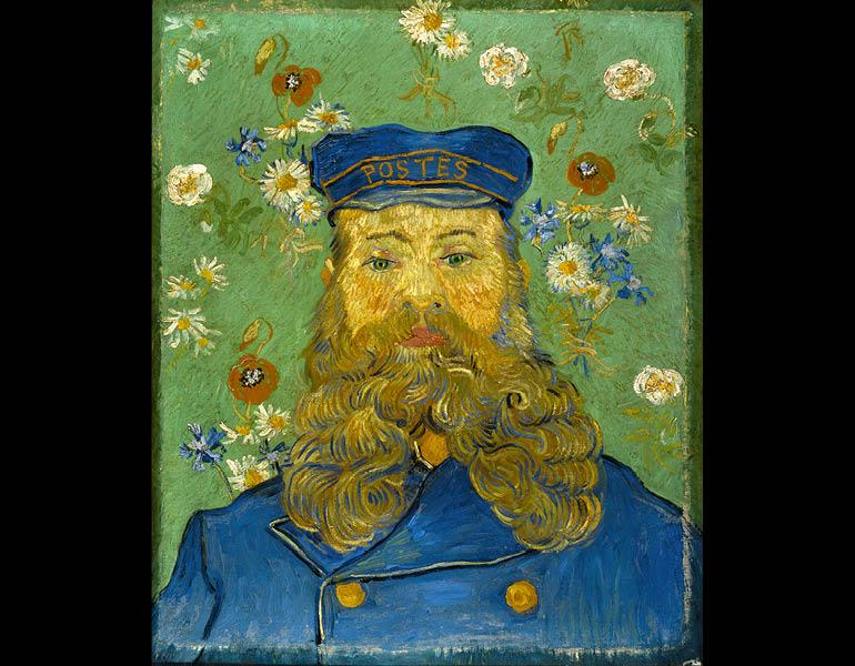 The Postman Joseph Roulin, February–March 1889. Vincent van Gogh. Oil on canvas; 65 x 54 cm. Collection Kröller-Müller Museum, Otterlo 103.101, F439.