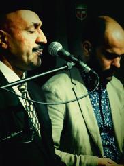 Hamid Al-Saadi with Amir ElSaffar (of Safaafir). Photo courtesy of the artists