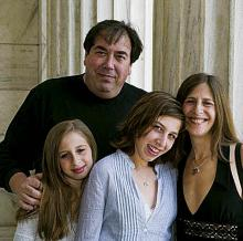 Mark Schwartz with daughters Emma (left) and Sophie and wife Bettina Katz.