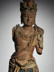 A wooden Chinese sculpture