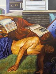 Marcus Garvey Knew, 2012. Mario Moore (American, b. 1987). Oil on canvas; 213.4 x 152.4 cm. © Mario Moore